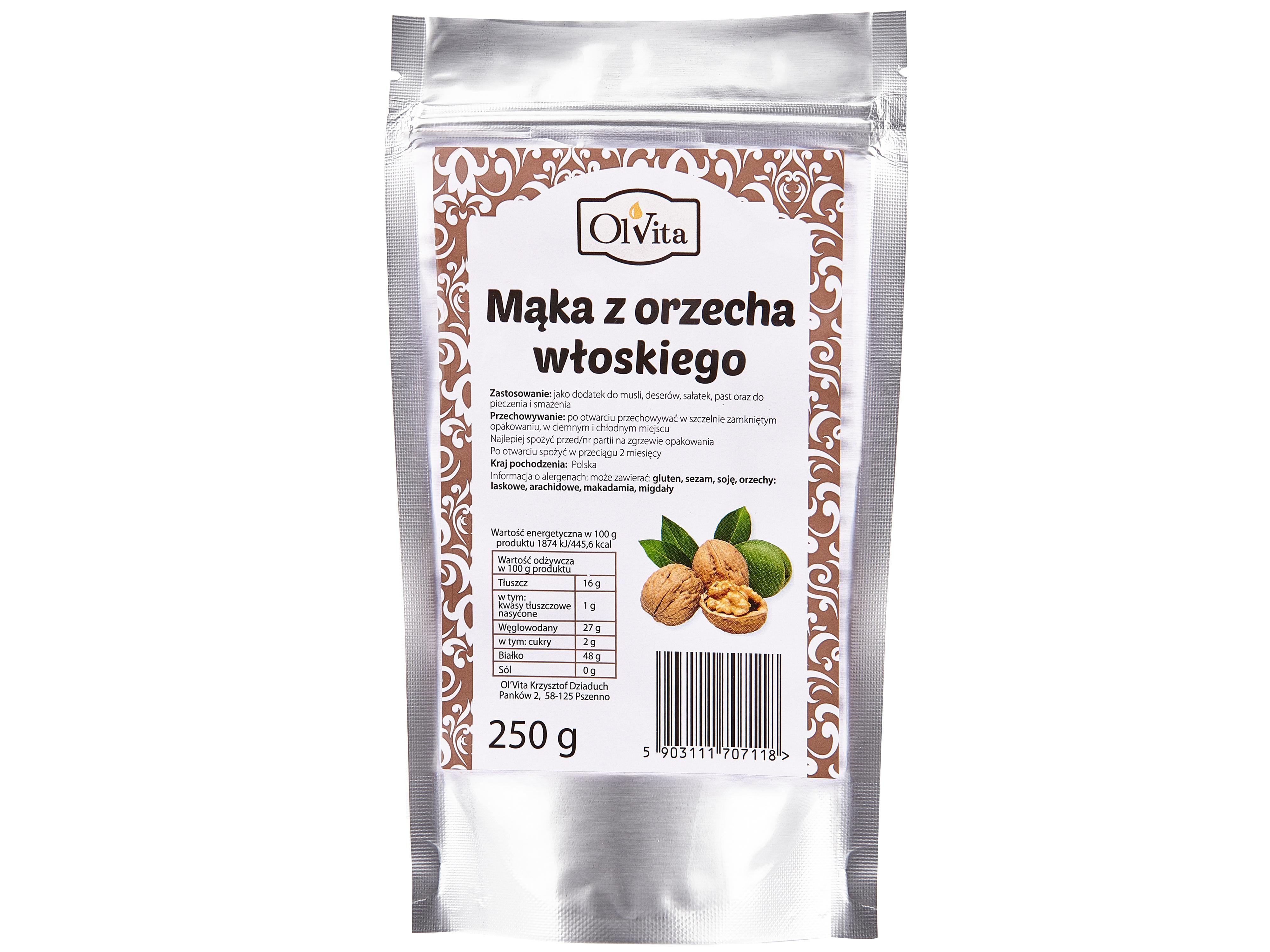 Mąka z orzecha włoskiego 250g Ol'Vita